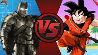 BATMAN vs GOKU! (DC Comics vs Dragon Ball) de dibujos animados de el Club de la Pelea Episodio 144