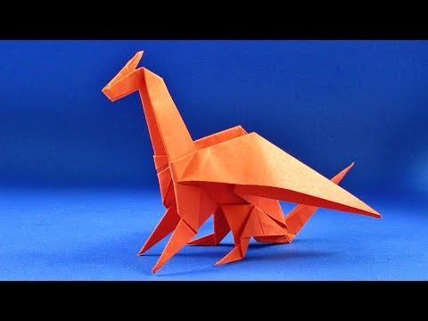 Как сделать дракона из бумаги. Оригами ДРАКОН из бумаги