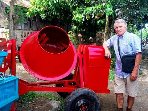 WE FINALLY BUY CEMENT MIXER FOR 46,000 PESOS THANKS TO OUR SUPPORTER PUKEKO FOR THE GENEROUS GIFT