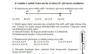 7Cİ SİNİF FİZİKA KSQ 2 CAVABLARLA