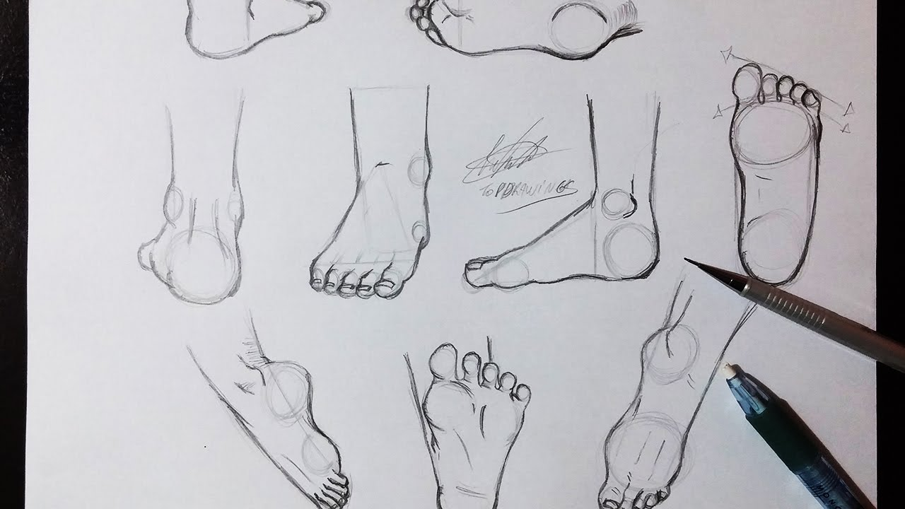 Aprenda Desenhar pés 1