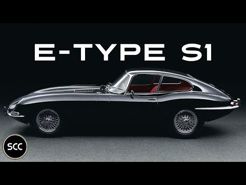 JAGUAR E-TYPE series 1 4.2 Coupé 1965 - Modest test drive - Engine sound | SCC TV