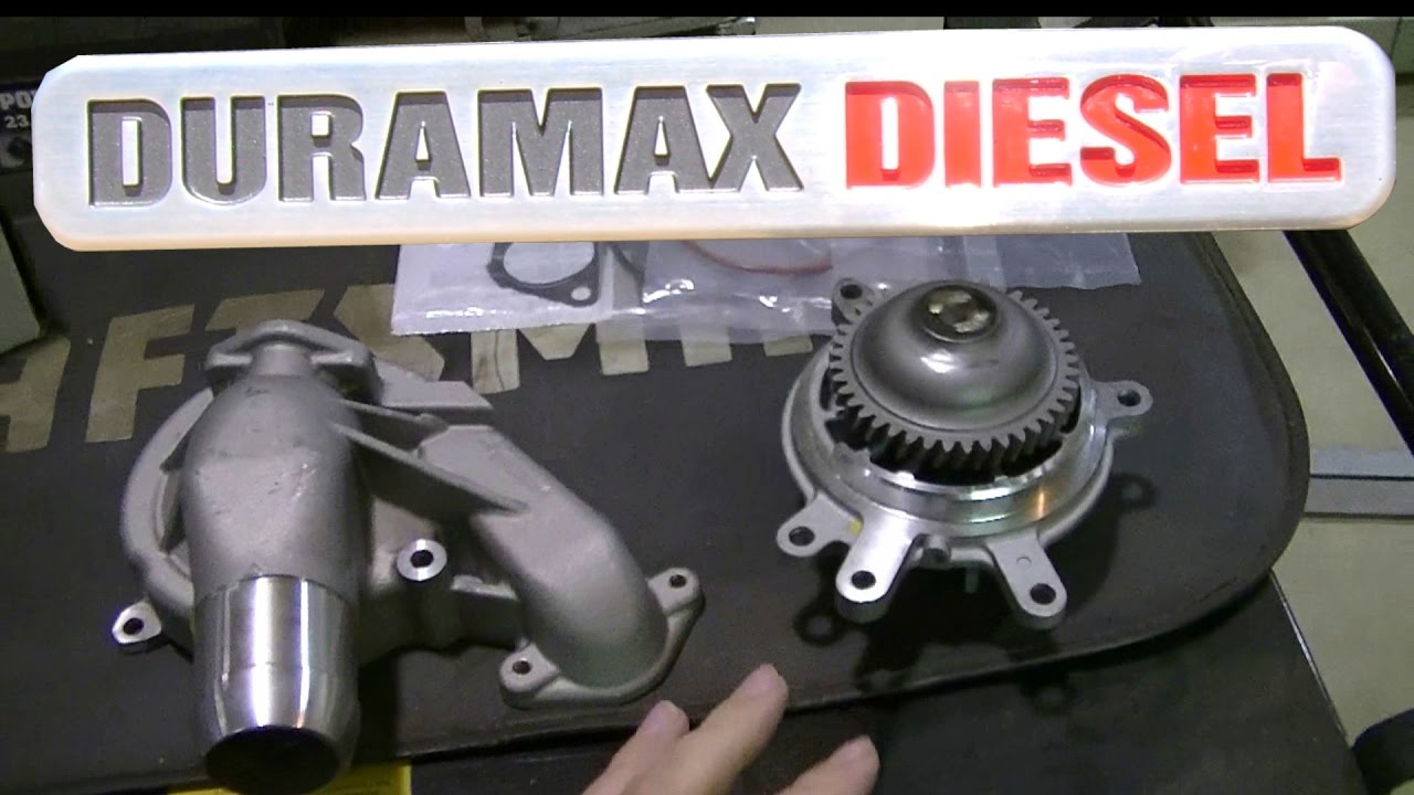 02 Silverado Duramax LB7 Water Pump Install - YouTube