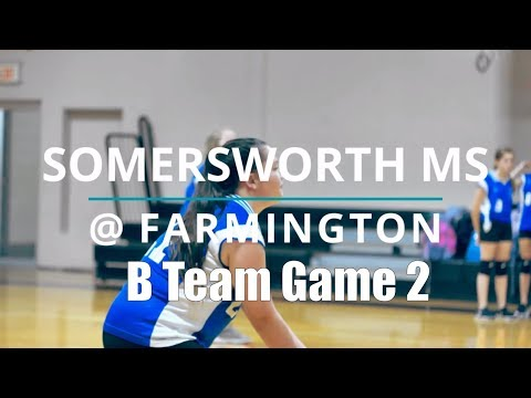 2018 Somersworth Middle School Volleyball @ Farmington Middle School Game 2