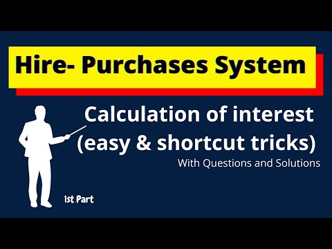 | How to calculate Interest in Hire-Purchases System | #hirepurchasessystem