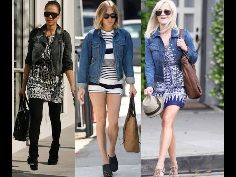 denim jacket style women - YouTube