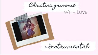 Christina Grimmie - With Love Karaoke | Lyric Video