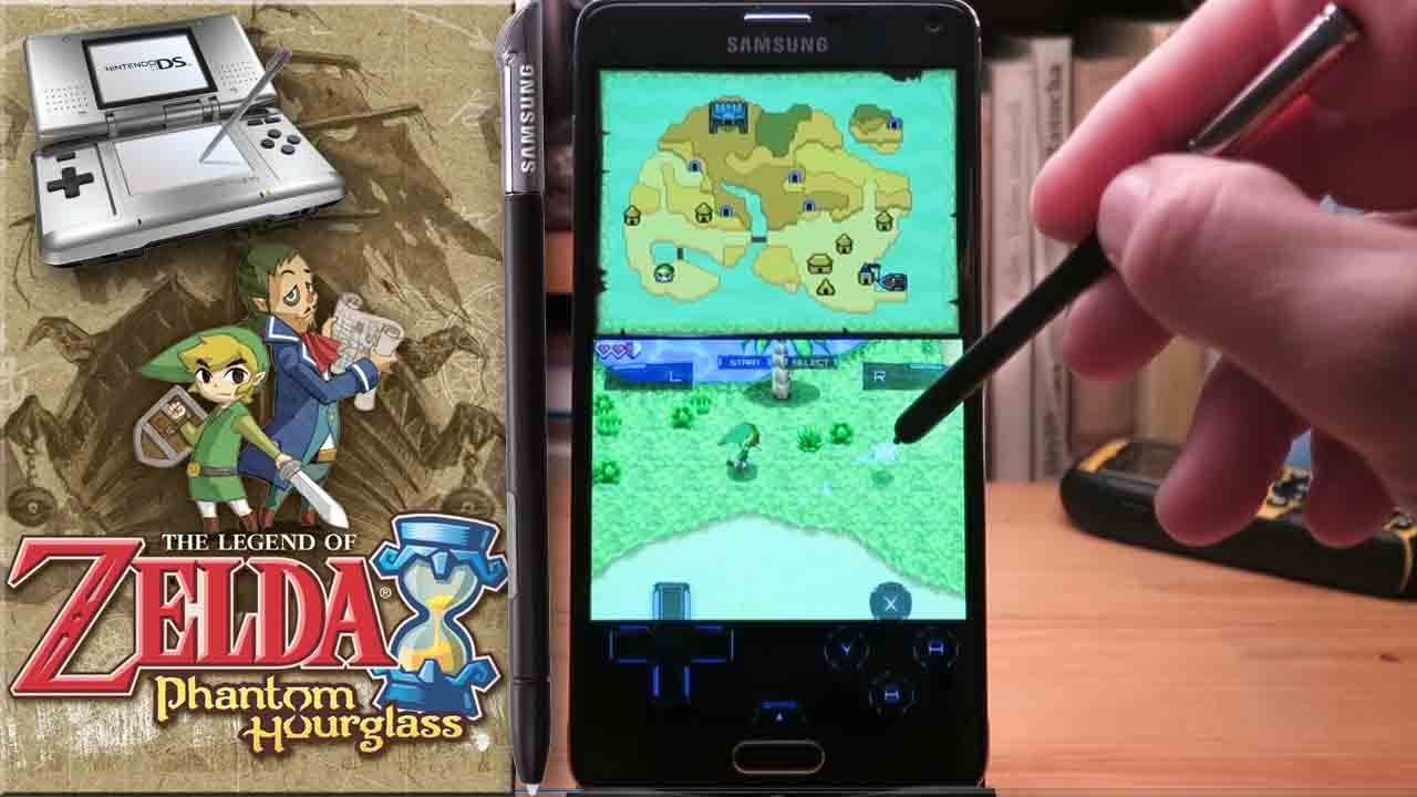 Nintendo DS emulator on Samsung Galaxy Note 4 with S PEN (Game:Zelda)