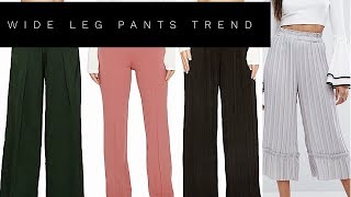WIDE LEG PANTS LOOK BOOK | STYLE THE TREND