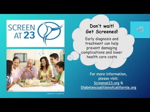 Diabetes in Asian Americans & The Screen at 23 Campaign