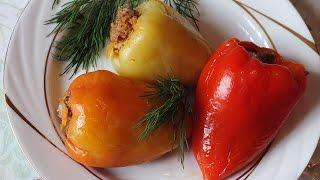 Как приготовить Перец фаршированный  мясом и рисом рецепт