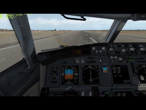 X-Plane aproximación valencia Boeing 737-800
