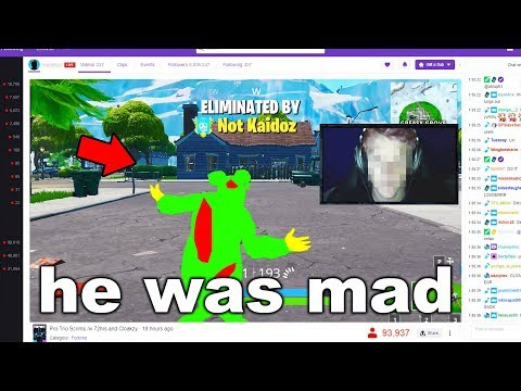 I Stream Sniped A HACKER on Fortnite
