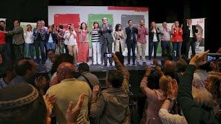 Acto público  de Gabilondo y Carmona en Madrid en el Teatro Compac de Gran Vía 19-05-15