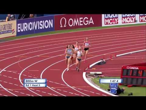 249 Jenny Meadows 800m H5 Women's HD European Athletics Championships Amsterdam 2016
