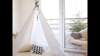 【DIY】海外で人気のおしゃれなテント「ティピー」のインテリアのアレン...