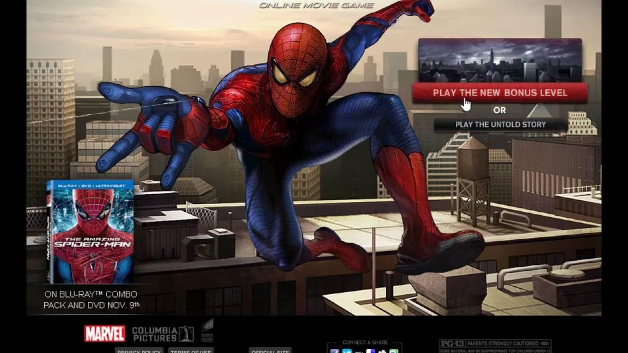 the amazing spiderman online movie game level 1 youtube