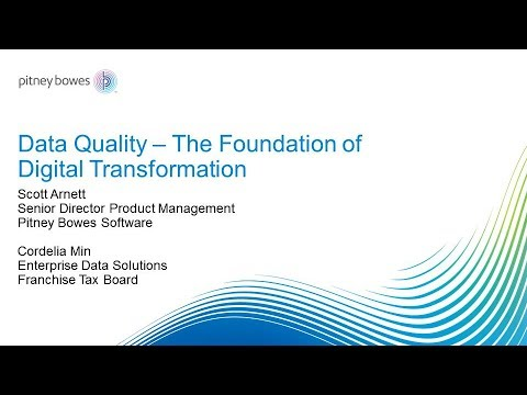 LD2017S6(Pt 1): Data Quality The Foundation - Pitney Bowes