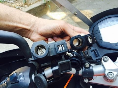 Motorcycle USB charger   usb ports and cig lighter port