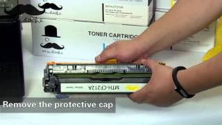 How to install Moustaches 131A compatible toner cartridge for HP Laserjet Pro 200 color