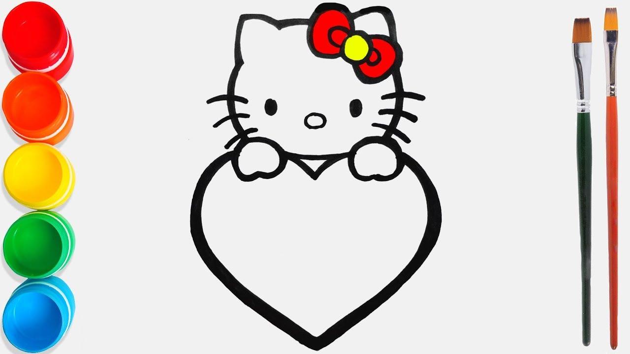 Hello Kitty Belajar Mewarnai Dan Menggambar Untuk Anak Anak