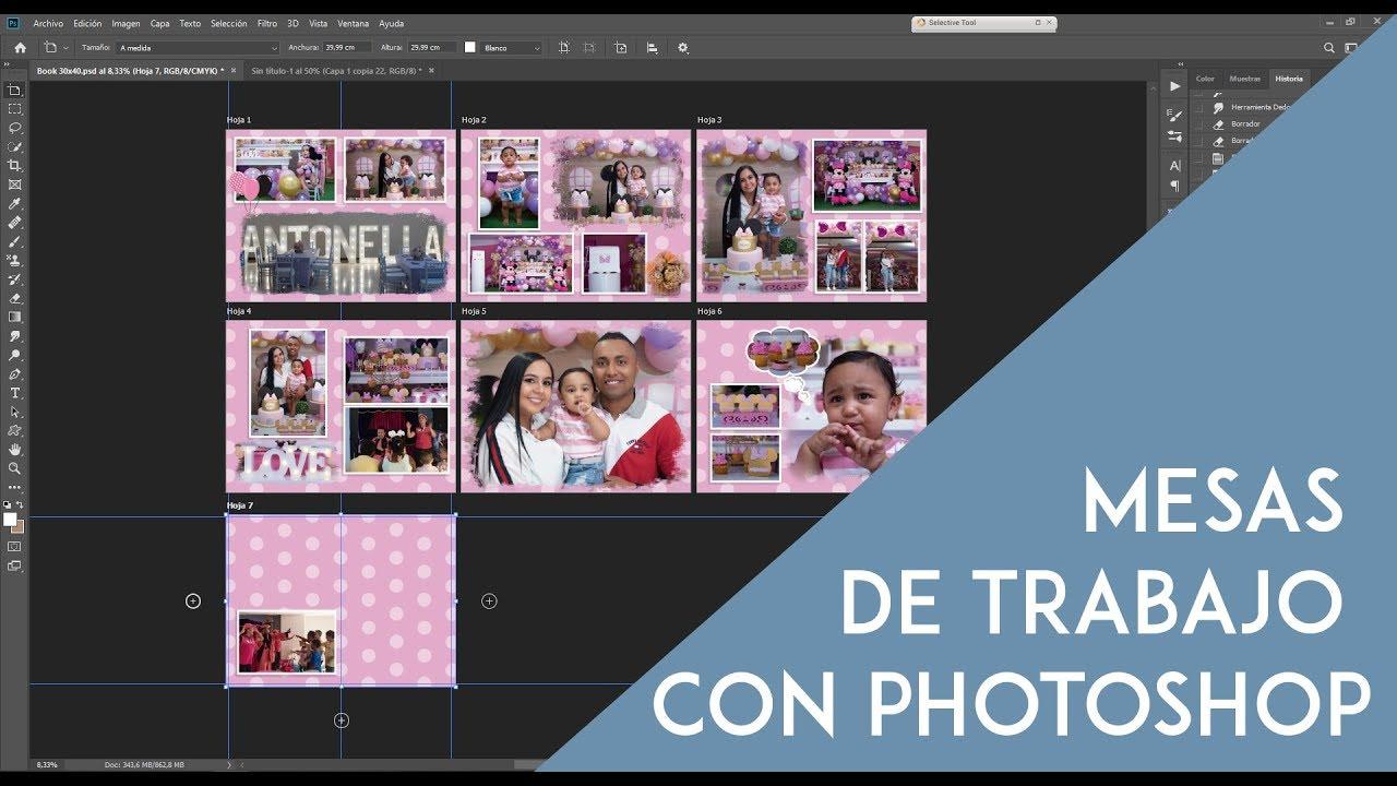 Mesas De Trabajo Con Photoshop Youtube
