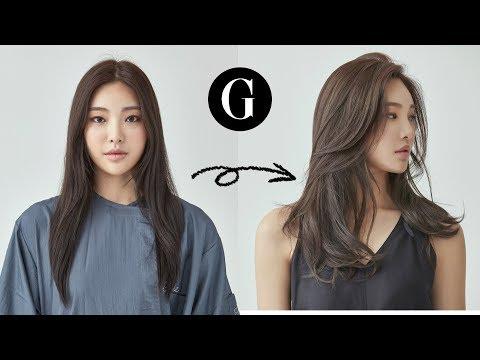 [그라피TV] 긴머리 가볍게 커트하기 Asian hairstyle Korean woman's long layered haircut thumbnail