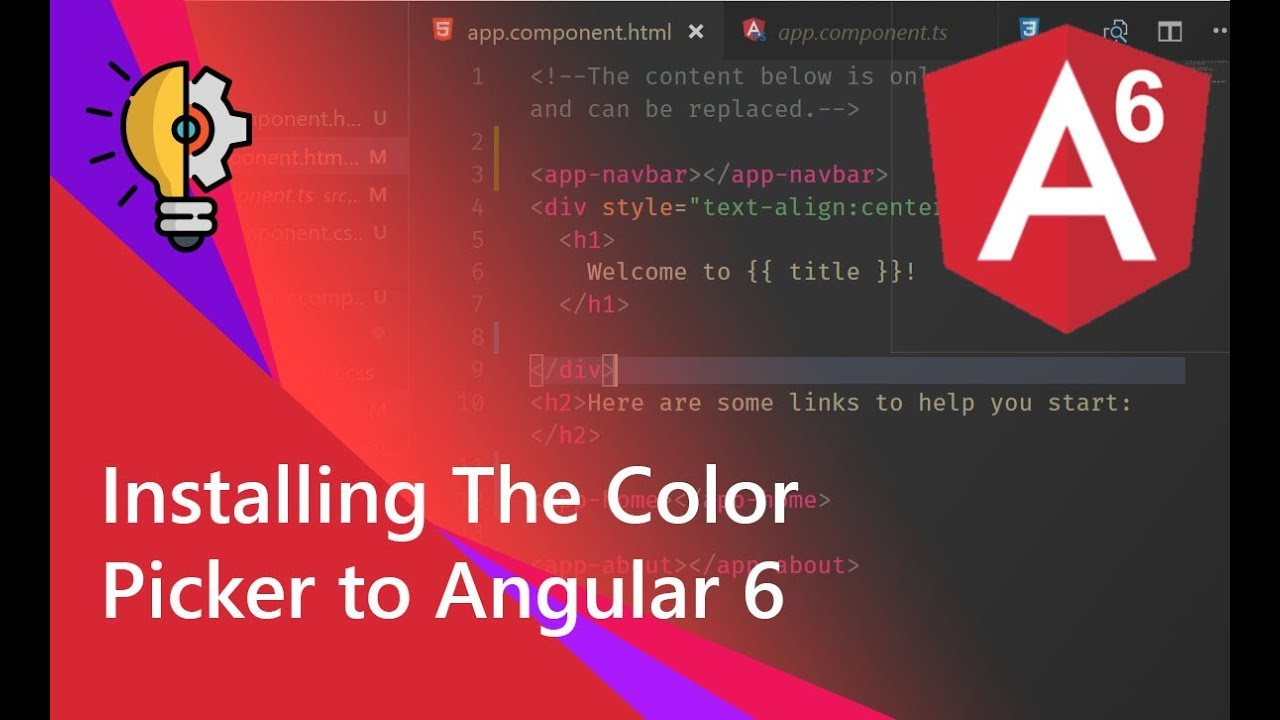 06 - Installing The Color Picker to Angular 6