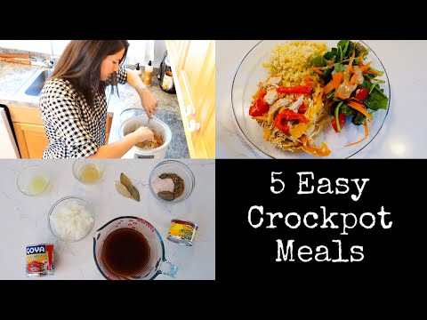 5 EASY & QUICK CROCKPOT MEALS || SO MUCH FLAVOR!!!