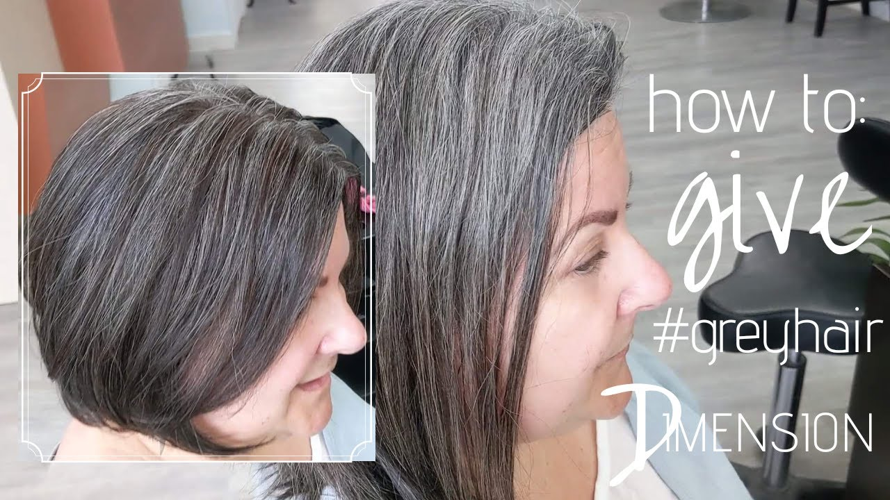 Lowlights For Gray Hair Youtube