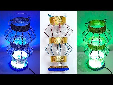 DIY - Easy Lantern/Akash kandil from plastic bottle - Part 3 | DIY Christmas Decorations Idea