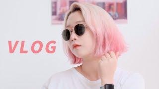 웃음거리 만들려다 의외로 성공한 셀프 염색 Vlog / 유럽에서 핑크 투톤 옴브레 염색!