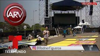 Así marchan los preparativos del Venezuela AID Live | Al Rojo Vivo | Telemundo