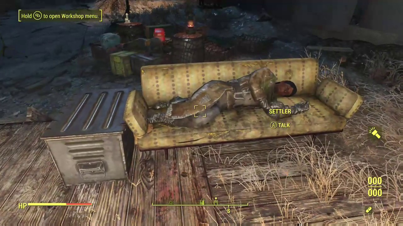 Couches 4 Fallout 4 Make Settlers Sleep On Couches Tables The Ground Nearly Anywhere No Mods