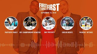 First Things First Audio podcast (9.13.19)Cris Carter, Nick Wright, Jenna Wolfe | FIRST THINGS FIRST