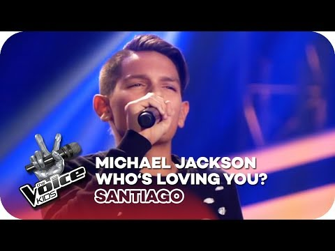 Michael Jackson - Who's Loving You? (Santiago) | Blind Auditions | The Voice Kids 2018 | SAT.1