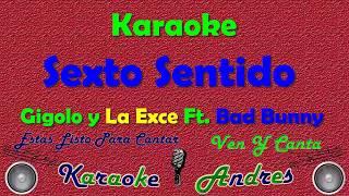 Sexto Sentido Bad Bunny x Gigolo & La Exce Karaoke