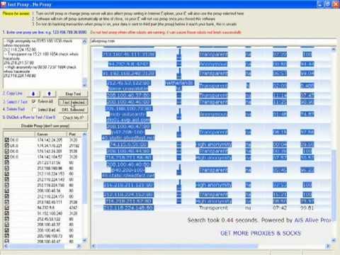 Automated Web Browser - Setting up rotating IP Address using free proxy