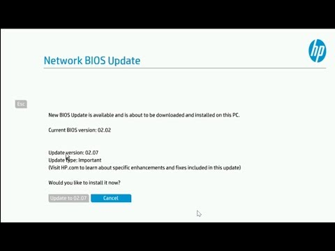 EliteDesk 800 G3 DM BIOS update via network