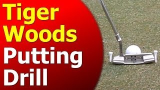 Tiger Woods Putting Gate Drill Part 1