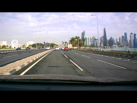 Quick Drive from C-Ring Road (Al Hilal), Doha to Lusail City, Qatar via Doha Corniche