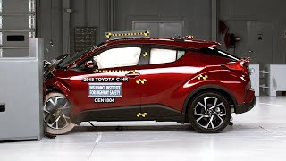 2018 Toyota C-HR driver-side small overlap IIHS crash test