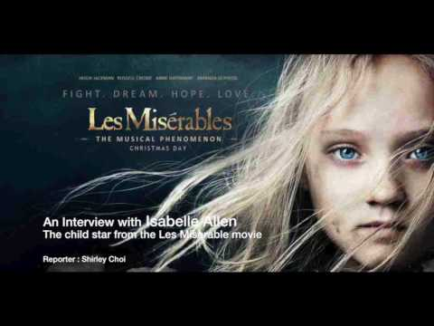 An  with Isabelle Allen  The child star from the Les Miserable movie