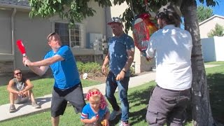 HILARIOUS BIRTHDAY PARTY PINATA FAIL! 4 YEAR OLD BIRTHDAY PARTY | DYCHES FAM