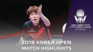 Jun Mizutani vs Jang Woojin | 2018 Korea Open Highlights (1/2)
