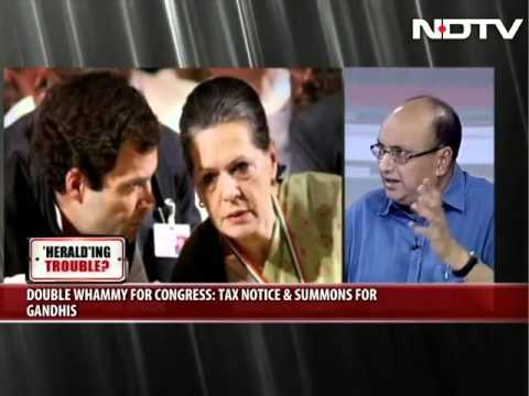 Dr Subramanian Swamy in NDTV debate on Gandhi family National Herald scam