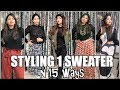 How to Look NEW & DIFFERENT always With 1 Sweater | 1 sweater, 15 ways to wear it! 😮👌🏻