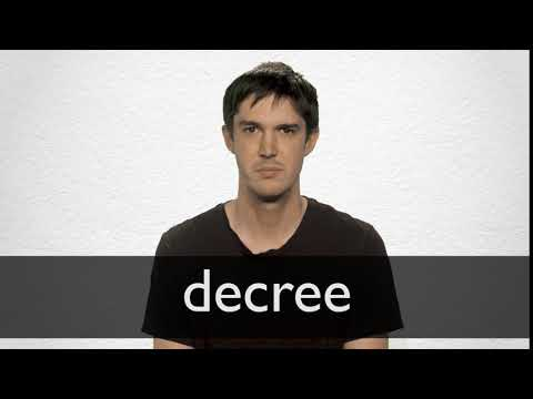 How to pronounce DECREE in British English