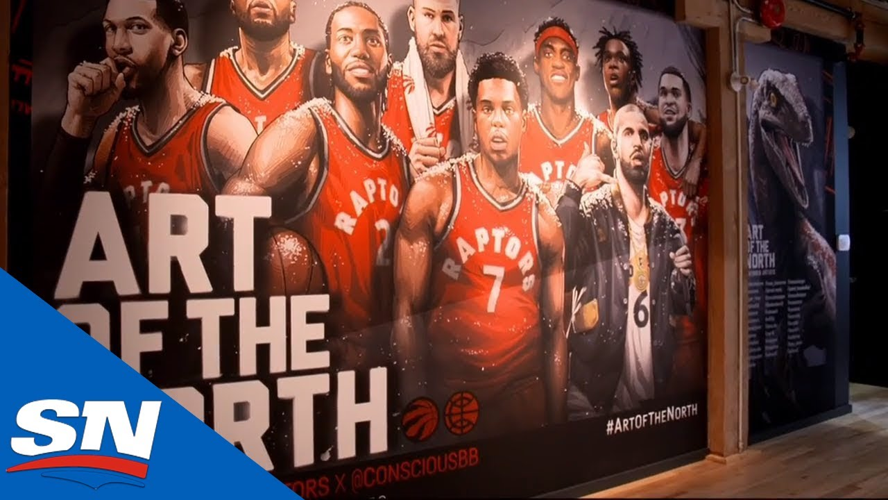 Art of the North exhibit puts Toronto Raptors global fan art on display