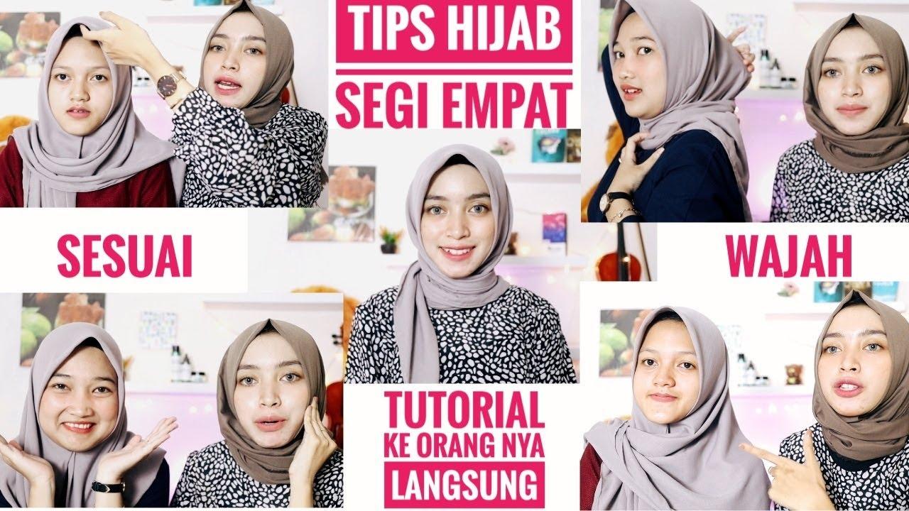 Tips dan Tutorial Hijab Segi Empat Sesuai Bentuk Wajah Bulat Kotak Beserta  Contoh Orang nya Langsung